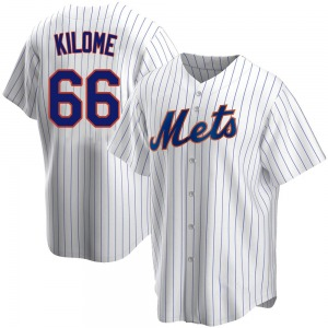 Youth New York Mets Franklyn Kilome White Home Jersey - Replica