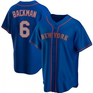 Youth New York Mets Wally Backman Royal Alternate Road Jersey - Replica