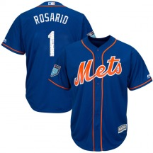 Men's Majestic New York Mets Amed Rosario Royal Cool Base 2018 Spring Training Jersey - Authentic