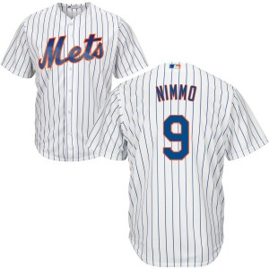 Men's Majestic New York Mets Brandon Nimmo White/Royal Home Cool Base Jersey - Authentic