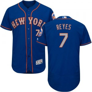Men's Majestic New York Mets Jose Reyes Royal/Gray Flexbase Collection Jersey - Authentic